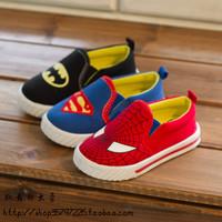 Superman Spiderman Batman Shoes 2014 New Children Girls Boys Christmas / Halloween Shoes Free Shipping
