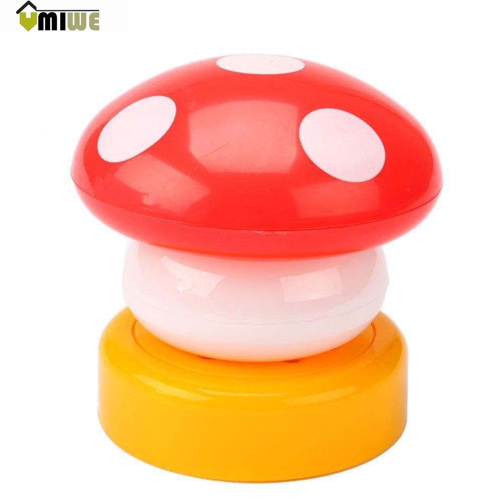 Umiwe Plastic Touch Sensor Mini LED Mushroom Night Light Party Decorations,Random Color(China (Mainland))