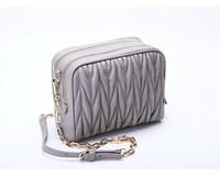 Sheep leather handbag chain bag folding banquet 2014 new shoulder bag hand FREE SHIPPING