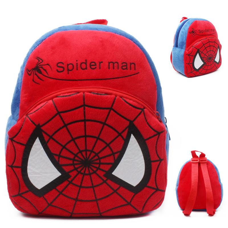 Школа сумки человек - паук младенцы сумки куклы плюш животное комикс дети рюкзак школа мешок для детей рюкзаки