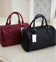 2013Mango mng new arrival fashion designers vintage Women leather handbags rivet bucket bowling handbag Free shipping