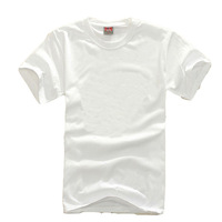 Cotton Blank white T-shirts Men's short-sleeved shirt spot wholesale nightwear
