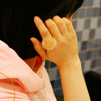 Small accessories hot-selling 2014 dandelion ring finger ring women's jewelry 2colors 12cs/lot free shippng