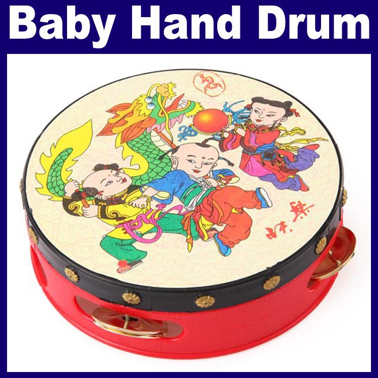 3 pcs/lot _ Baby Kid Boys Girls Drum Toy Tambourine Zils Educational Toy Gift(China (Mainland))