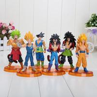 Hot Sales New Dragon ball figure action Goku figures 13.5cm 6pcs/lot Christmas gift