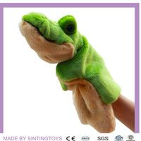 Plush toy animal prop the crocodile felt hand puppet 12 pieces/lot