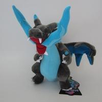Free Shipping 10pcs/lot Pokemon 26*21cm  Blue Fire Dragon Plush