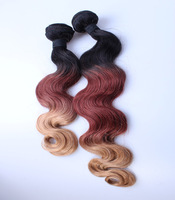 New Brazilian Ombre Hair Extensions Queen Hair Brazilian Virgin Hair Body Wave 1b/33/27 2pcs/lot&3pcs/lot Human Hair Weave