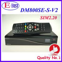 2015 DM800se V2 DVB-S satellite Receiver DM800HD se V2 SIM2.20 521MB/1GB Flash sim2.20 REV E dm 800se v2 fedex Free Shipping