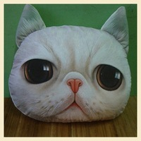 Nordic Chair Pillow Personality Car Cushion Cover Creative Handsome Cat shape Nap pillow Cover Cute seat cushion B7218