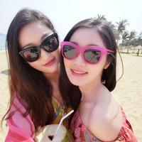 2014Sunglasses trend women's sunglasses sun glasses big box anti-uv fashion elegant box sunglasses female