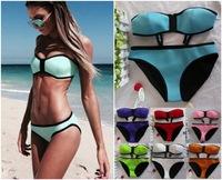Top Quality Push UP Swimwear Women Triangl  Neoprene Bikini Set Triangle  Brand  Biquini  Swimwears Swimsuit Set Brazilian