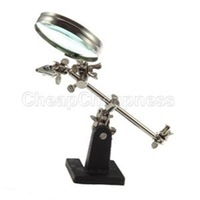 2014 New Enhanced Third Hand Soldering Iron Stand Holder Station Magnifier Tool Kit With Low Price