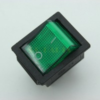 Free Shipping 1PC 31x25.5mm Green Light KCD4 Rocker ON OFF Switch 250V 15A /125V 20A CQC RoHs