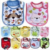 2014 Hot Sale Cotton Baby Bib Infant Saliva Towels Baby Waterproof Bibs Cartoon Baby Wear With Different Model Size Is 31*19cm