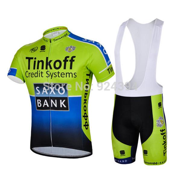 2014 Bike Team Racing Cycling Wear Short Jersey BIB Shorts Set mens Green Blue Outdoor Sport Bicycle Clothing(China (Mainland))