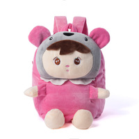 Free Shipping super cute Children school bags cartoon zoo animal backpack Gift for Children Kids