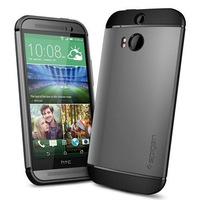 New Spigen Slim Armor Case for HTC ONE 2 M8 PC TPU Back Skin Protective Mobile Phone bags Cases