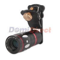 Mobile Phone Len 4 IN 1 Lens Clip Clamp Camera 10X Telescope Wide Angle Fish Eye Lens Wide Angle & Macro Lens For Iphone