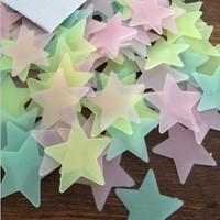 W185 3.8cm luminous stars luminous fluorescent patch patch -dimensional wall stickers