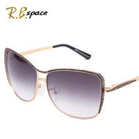 2014 Fashion women's sun glasses big box vintage sunglasses star style fashion anti-uv sunglasses