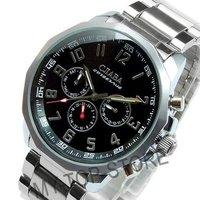 Hot ! Charm Arabic Fashion Men 's Style Swiss Automatic Mechainical Cjiaba Steel Military Top Brand Watch