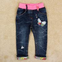 Free Shipping Girl's Jeans Nova Kids Girl's Jeans Pants Full Length Children Autumn Clothing Fashion Jeans for Girls