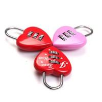 The Love combination lock zinc alloy Luggage padlock valentine's day gifts lock