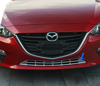 ABS Chrome Front Grille Around Trim Racing Grills Trim For 2014 Mazda 3/AXELA