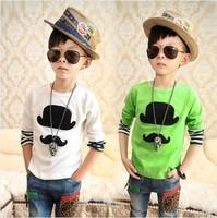 Fashion Korean Style Autumn Summer Boy's t Shirt Colorful Cartoon t-Shirt Childrens Long Sleeve Clothing