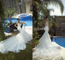 2014 Galia Lahav Designer praia sexy Tulle frisado baratos importados da China Alibaba vestidos de noiva festa de casamento Vestidos turcos(China (Mainland))