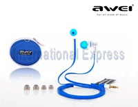 Free Shipping Original AWEI ES-700M ES700M in-ear Earphone Headset for mp3 mp4 player Cellphone Mobilephone iphone INE025