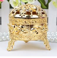GAGA !Free shipping gold   tripod shaped wedding chocolate box  , 100 pcs/lot  JXL1B