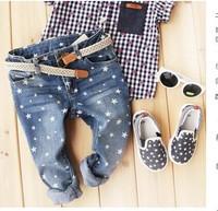 The New fashion  boys / girls star denim pants, long pants, jeans pants