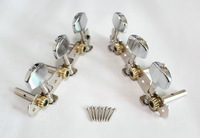 Machine Heads - Classical Guitar Tuning Pegs - Chrome Color (High Quality And Inexpensive)