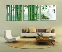 3 Panel modern wall art home decoration frameless oil painting canvas prints pictures P82 chinese bamboo traditional paintings