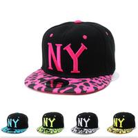 New Style NY Leopard Pattern Snapback Hats Adjustable Baseball Caps Hip Hop Bone Vintage Snapbacks Cheap Sun Caps Free Shipping
