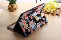 For iPad mini 2  Luxury Rural Flower Calico  Magnet Magnetic Leather Case  With Card Slots Holder Stand Flip Case Cover