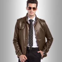 2014 new arrival fashion casual style PU leather for men male coat spring autumn high quality men's washed leather jackets