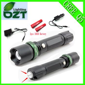Нью-cree XM-L Q5 450 люмен из светодиодов факел масштабируемые кри водонепроницаемый ...