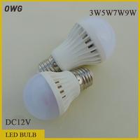 5pcs/lot Led Lamp LED Bulb E27 DC12V  3W 5W 7W 9W SMD2835 Warm White Cool White Energy Saving Led Light Lamps