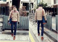 Free shipping Hot sale brand Men winter Warm down jacket , deer pattern wool Cotton-padded men clothing CMR233