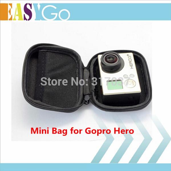 Brand New Gopro Hero Mini Portable Waterproof Storage Camera Bag Travel Carry Protective Bag Case for Gopro Hero HD Camera 1/2/3(China (Mainland))