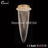 Hot Modern crystal chandelier spiral crystal lamp corridor bedroom led lighting Ceiling chandelier