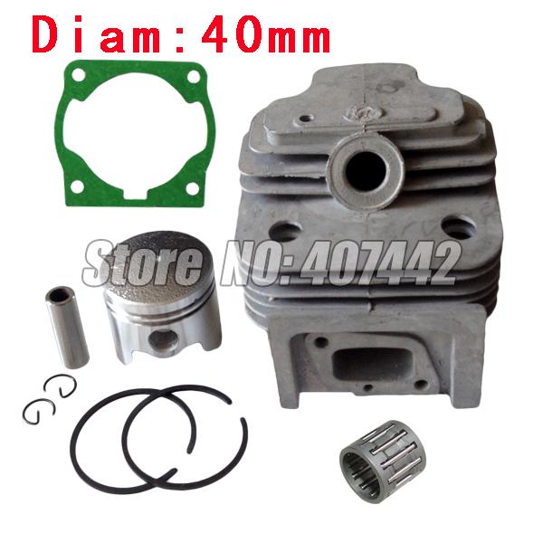 1x CG430, 40F-5 engine brush cutter cylinder piston KITS 40MM with gasket free shipping(China (Mainland))