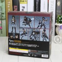 """Anime Attack on Titan Figma 203 Mikasa Ackerman 6"""" PVC Action Figure Collectible Model Toy"""
