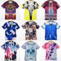 Hot models new design t-shirt 2014 new style men/women 3D t shirt short sleeve summer cotton tshirt top printing Character L~XXL
