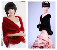 2014 fashion faux  cape the trend of the banquet scarf Christmas formal dress wedding dress fur cape