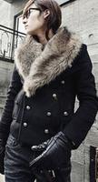 fashion Men's slim coat winter overcoat outwear winter Fur Collar Down Jackets Coat free shipping CMR238