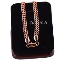 1pcs 7mm Men Womens 18k Rose Gold Filled Bracelet 21cm Chain E180